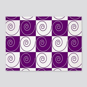 Purple Mousey Tails 5'x7'Area Rug