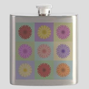 Gerbera 3x3 Daisies Flask