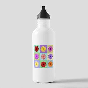 Gerbera 3x3 Daisies Sports Water Bottle