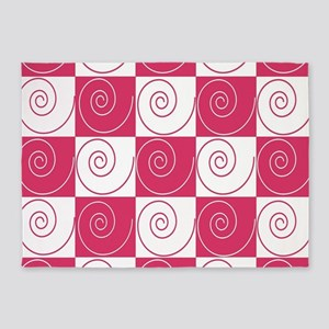 Bubblegum Pink Mousey Tails 5'x7'Area Rug