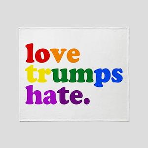 Love Trumps Hate Throw Blanket