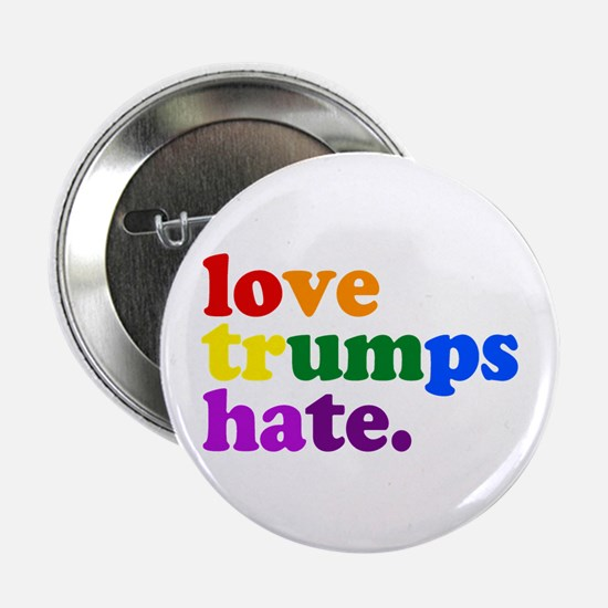 "Love Trumps Hate 2.25"" Button (10 pack)"