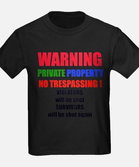 WARNING PRIVATE PROPERTY T