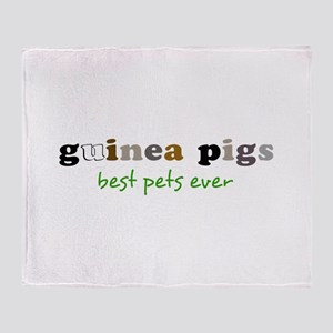 Guinea Pigs-Best Pets Throw Blanket