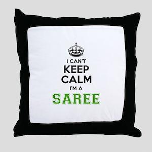 Saree I cant keeep calm Throw Pillow