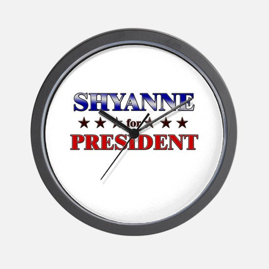 SHYANNE for president Wall Clock