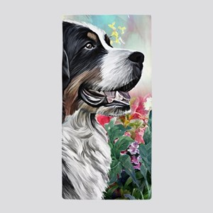 Bernese Mountain Dog Painting Beach Towel