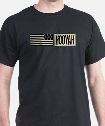 U.S. Navy: Hooyah (Black Flag) T-Shirt