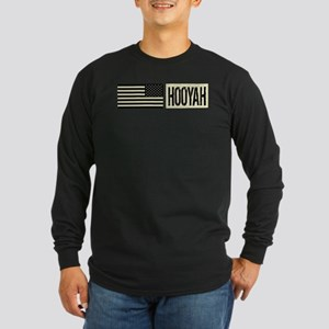 U.S. Navy: Hooyah (Black Long Sleeve Dark T-Shirt