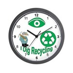 I Dig Recycling Wall Clock