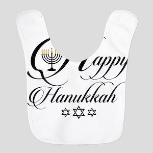 Happy Hanukkah- Jewish holiday Polyester Baby Bib