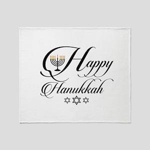Happy Hanukkah- Jewish holiday celeb Throw Blanket