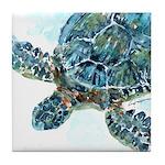 Sea Turtle #9 Tile Coaster