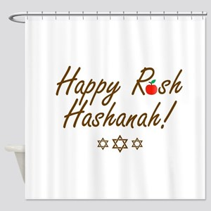 Happy Rosh Hashanah or Jewish Near Shower Curtain