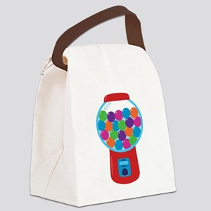 Cute Gumball Machine Canvas Lunch Bag