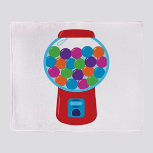 Cute Gumball Machine Throw Blanket