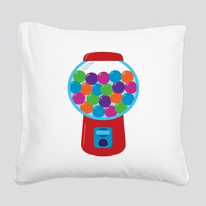 Cute Gumball Machine Square Canvas Pillow