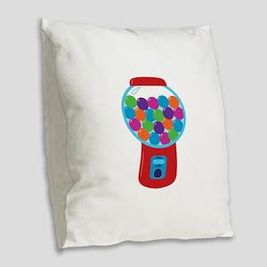 Cute Gumball Machine Burlap Throw Pillow