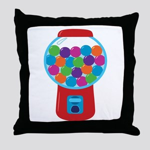 Cute Gumball Machine Throw Pillow