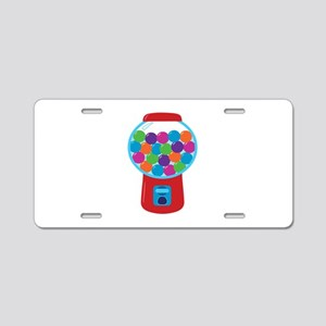 Cute Gumball Machine Aluminum License Plate