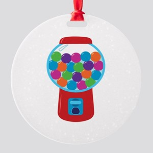 Cute Gumball Machine Round Ornament