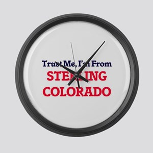 Trust Me, I'm from Sterling Color Large Wall Clock