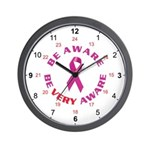 Breast Cancer 24 hour Wall Clock