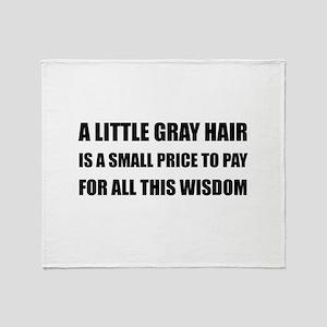 Gray Hair Wisdom Throw Blanket