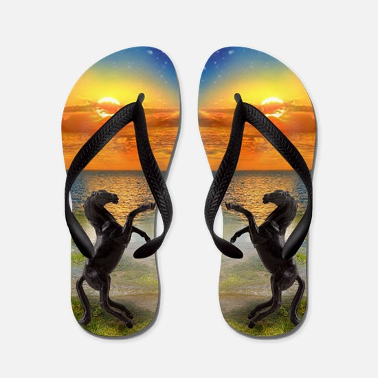 My Black Stallion Flip Flops