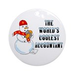 World's Coolest Accountant Round Ornament