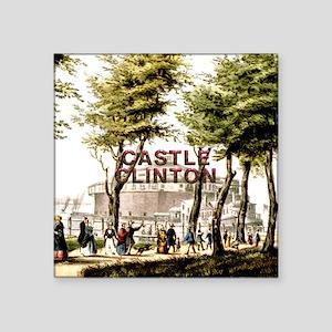 """ABH Castle Clinton Square Sticker 3"""" x 3"""""""