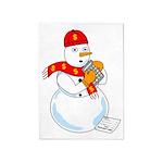 Snowman Accountant 5'x7'Area Rug