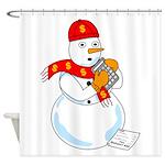 Snowman Accountant Shower Curtain