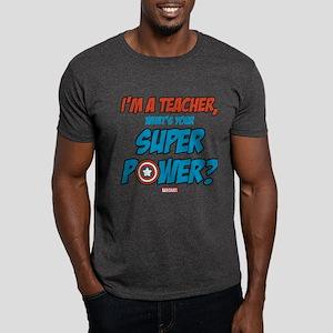 Captain America Teacher Dark T-Shirt