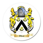 Wheat Round Car Magnet