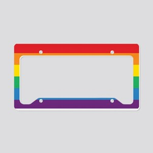 Rainbow License Plate License Plate Holder