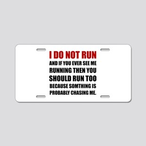 Running Chasing Me Aluminum License Plate
