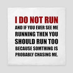 Running Chasing Me Queen Duvet