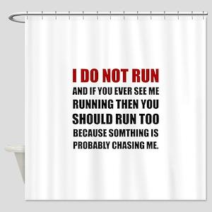Running Chasing Me Shower Curtain