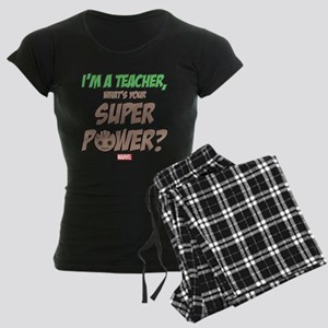 GOTG Groot Teacher Women's Dark Pajamas