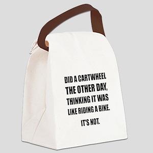 Cartwheel Like Riding Bike Canvas Lunch Bag