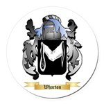 Wharton Round Car Magnet