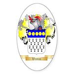 Weston Sticker (Oval 50 pk)