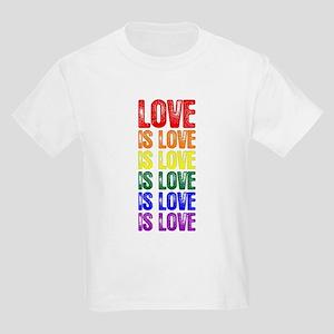 Love is Love is Love Kids Light T-Shirt