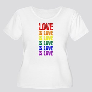 Love is Love Women's Plus Size Scoop Neck T-Shirt