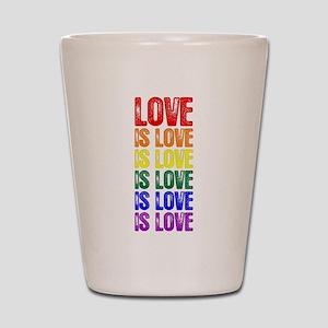 Love is Love is Love Shot Glass