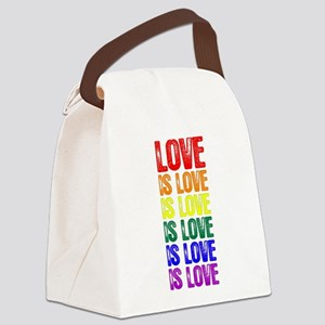 Love is Love is Love Canvas Lunch Bag