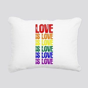 Love is Love is Love Rectangular Canvas Pillow