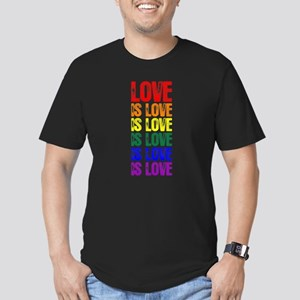 Love is Love is Love Men's Fitted T-Shirt (dark)