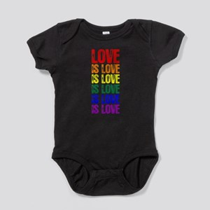 Love is Love is Love Baby Bodysuit